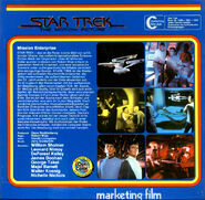 Back cover Star Trek The Motion Picture, Super 8 (German 3-reel edition, part 1)