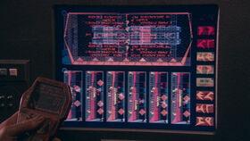 Monitor displays Klingon characters