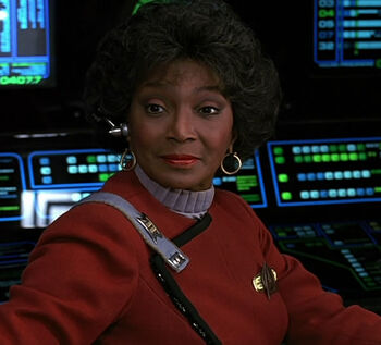 "Commander Nyota Uhura in <a href=""/wiki/2293"" title=""2293"">2293</a>"