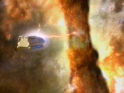 Protomaterie Shuttle Nebel