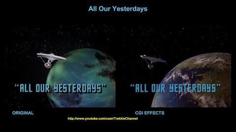 """TOS """"All Our Yesterdays"""" - """"Le passé"""" - comparaison des effets spéciaux"""
