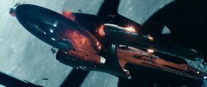 USS Vengeance strafing the USS Enterprise.jpg