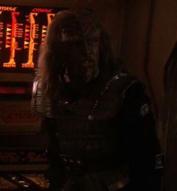 ...as the Klingon helmsman
