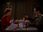 Kira and Dukat dine