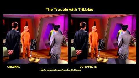 """TOS """"The trouble with tribbles - """"Tribulations"""" - comparaison des effets spéciaux"""