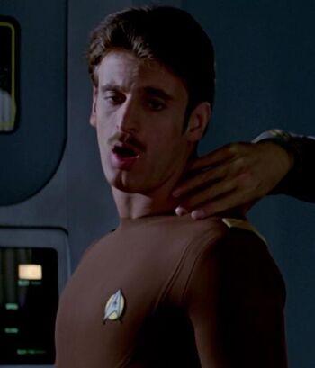 ...as an <i>Enterprise</i> airlock technician