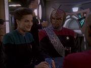 Worf mag Jadzias Gesprächigkeit nicht