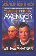 Avenger audiobook cover, US cassette edition