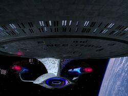 Enterprise-d extreme closeup