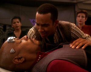 Jake and Benjamin Sisko in Rapture