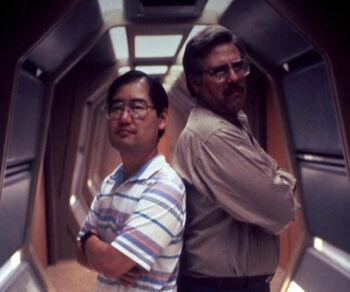 "Sternbach and <a href=""/wiki/Michael_Okuda"" title=""Michael Okuda"">Michael Okuda</a>"