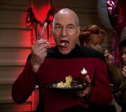 Picard eats cake