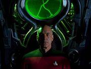 Picard in Borg alcove