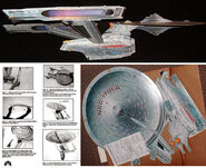 Star Trek Cardboard USS Enterprise promos