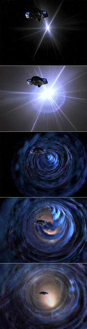Bajoran wormhole opening