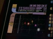 Displayanzeige der Zerstörung der cardassianischen Shuttle