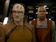 Garak and Sisko on the Defiant