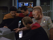 Voyager crew trying to break the orbital sensor net