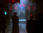 Worf in Great Hall, 2366
