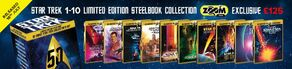 10 Movie Star Trek Collector's Set - Limited Edition Steelbook Collection UK ZOOM promo art