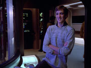 Acting captain Wesley Crusher