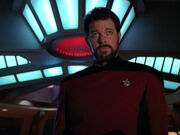 Captain Riker of the Enterprise-D
