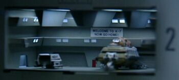 """The <i>Spacematic</i> in <a href=""""/wiki/Deep_Space_Station_K-7"""" title=""""Deep Space Station K-7"""">Deep Space Station K-7</a>'s hangar bay next to <a href=""""/wiki/NCC-K7"""" title=""""NCC-K7"""">NCC-K7</a>"""