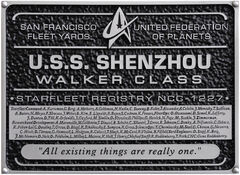 Eaglemoss USS Shenzhou Dedication Plaque