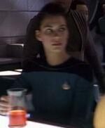 Female science division bridge officer, 2366