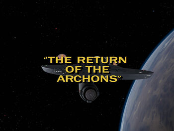 The Return of the Archons title card