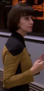 Female engineer, early 2369