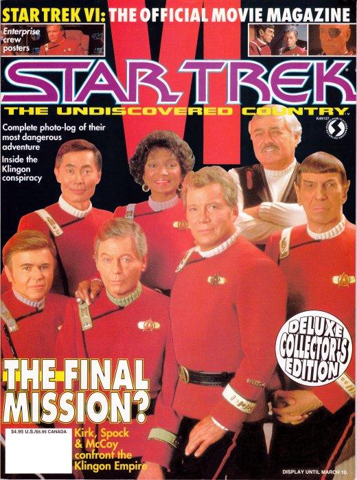 Star Trek VI Official Movie Magazine cover