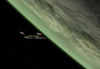 Trialas IV from orbit