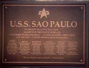 USS Sao Paulo Widmungsplakette