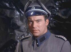 Kirk dessed in Nazi attire