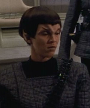 ... as a Romulan officer