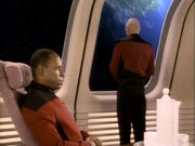 Sisko spricht mit Picard