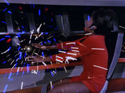 Uhura's communication console explodes