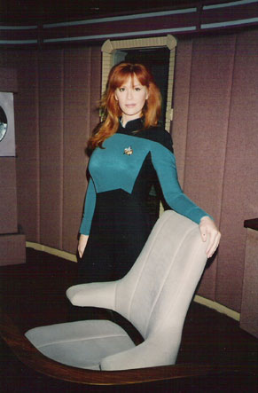Cameron photo doubling for Gates McFadden