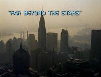 6x13 Far Beyond the Stars title card