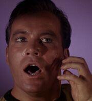Evil Kirk scratched