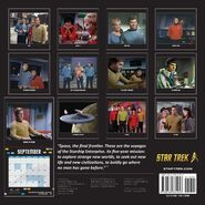 Star Trek Calendar 2017 back cover