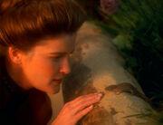 Erster Kontakt von Janeway mit dem tierischen Begleiter