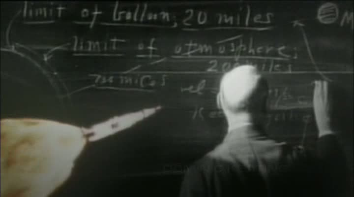 Goddard mit Rakete