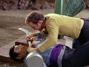 Kirk und Spock kämpfen