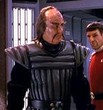 Klingon general in transporter room