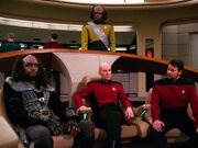 Kurn on Enterprise bridge, 2366