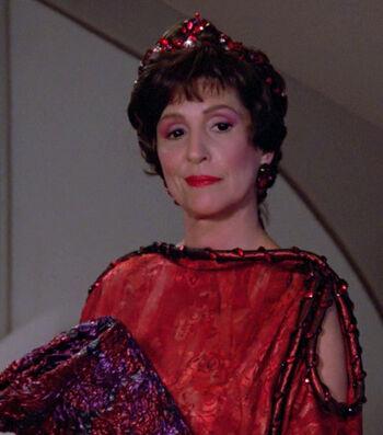 Ambassador Lwaxana Troi in 2364