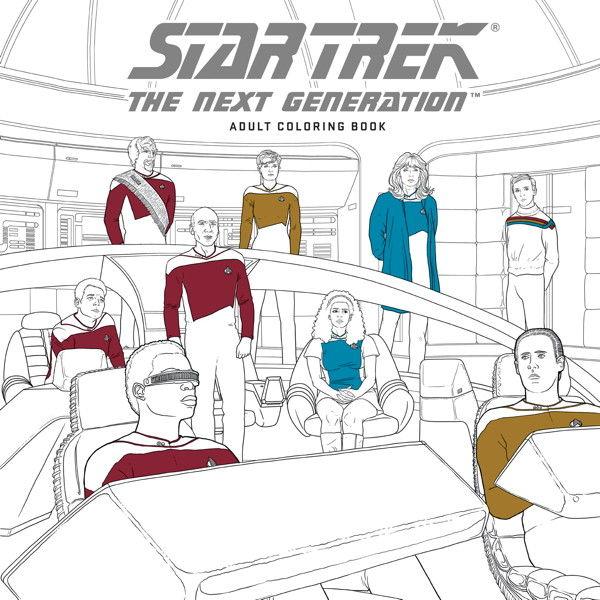 Star Trek The Next Generation Adult Coloring Book Memory Alpha