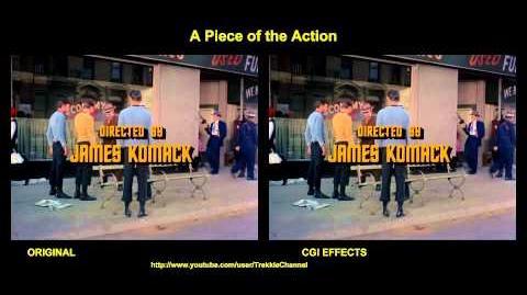 """TOS """"A Piece of the Action"""" - """"Une partie des actions"""" - comparaison des effets spéciaux"""